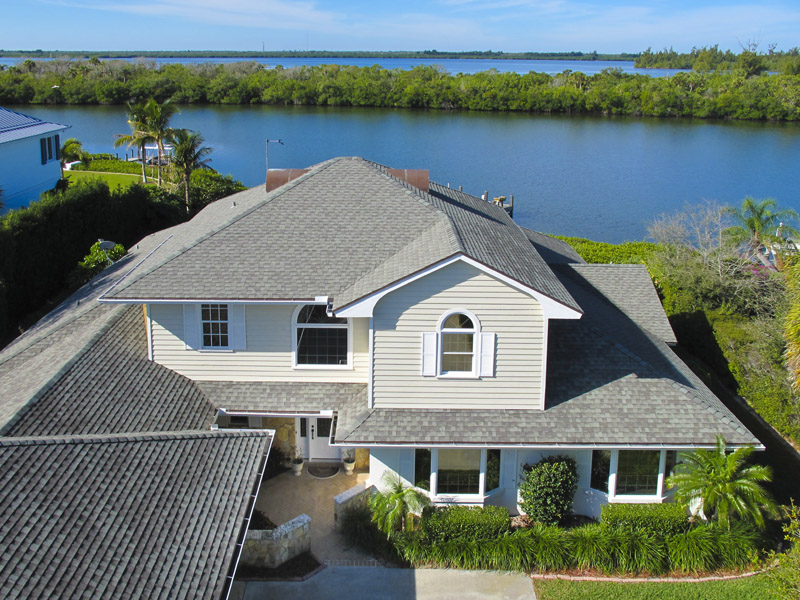 Castaway Cove Riverfront Home Aerial ICW View